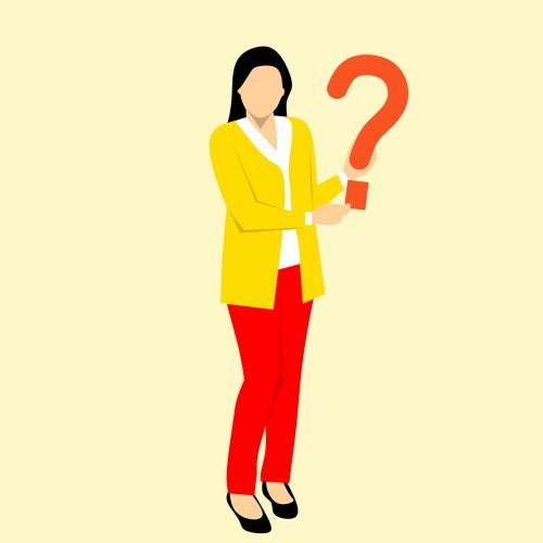 ask question lady