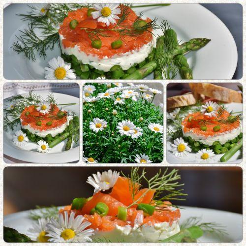 asparagus green salmon