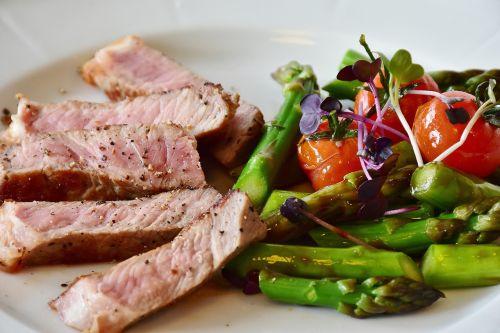 asparagus steak veal steak