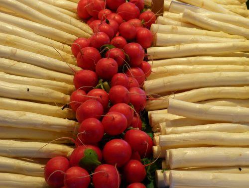 asparagus radishes eat