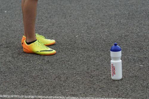 asphalt sports shoes drink