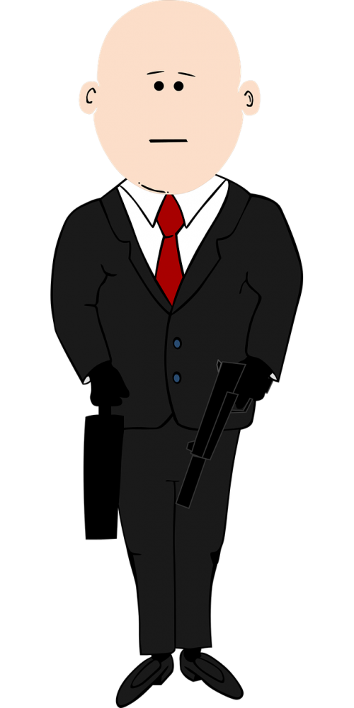 assassin bald cartoon