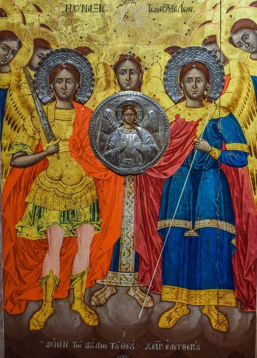 assembly of archangels  synaxis  icon