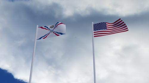 assyrian american flag