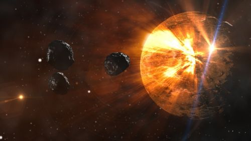 asteroids planet space
