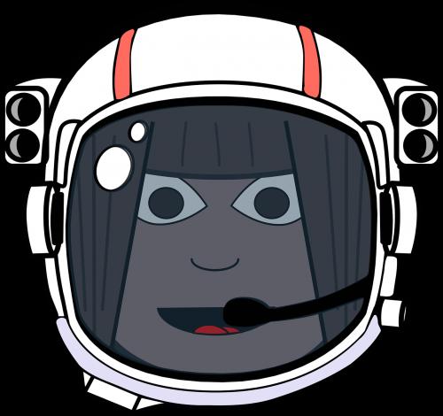 astronaut comic characters helmet