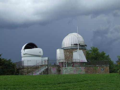 astronomical observatory thunderstorm uhlandshöhe