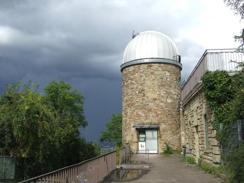 astronomical observatory thunderstorm threatening
