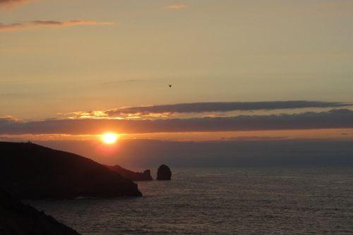 asturias sea sunset