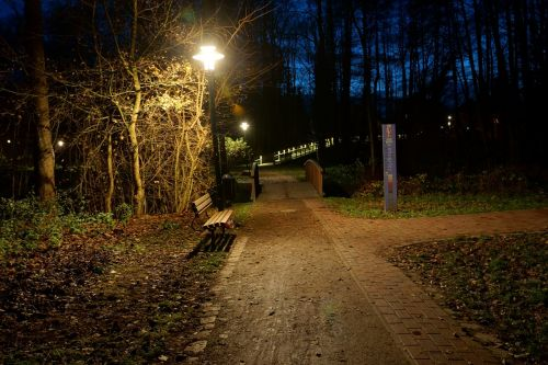 at night in the park harsefeld