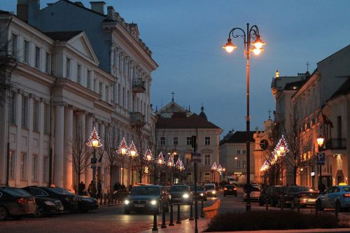 at night streets lantern