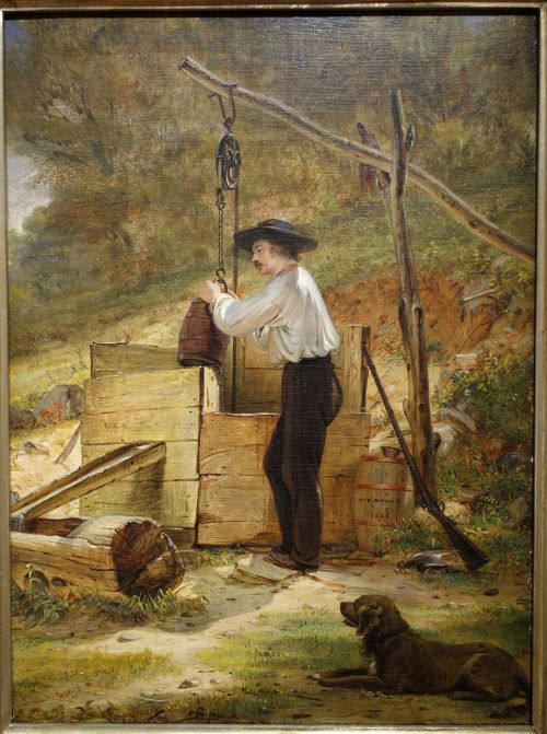 at the well william sidney mount oil