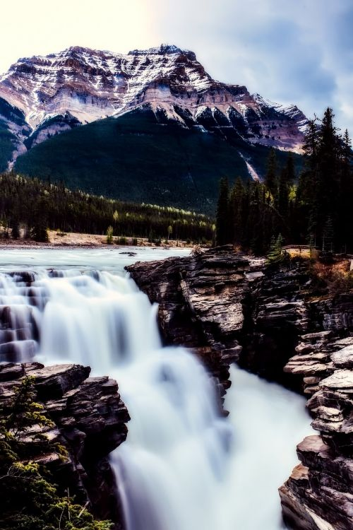 athabasca falls canada landscape