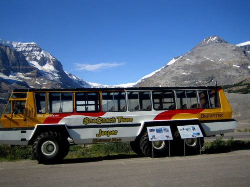 athabasca glacier touring bus transportation