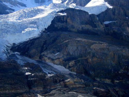 athabasca glacier rocky mountains canada