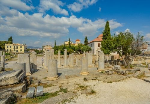athens columns ruins