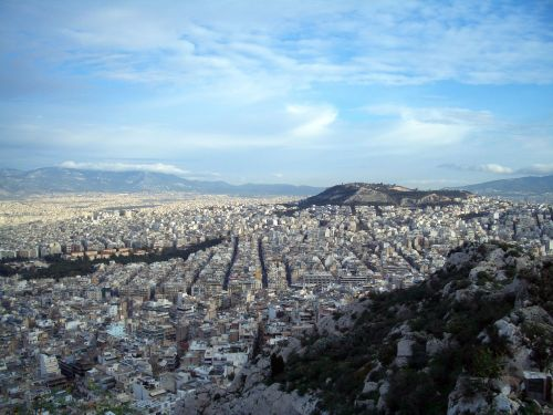 athens greece panorama