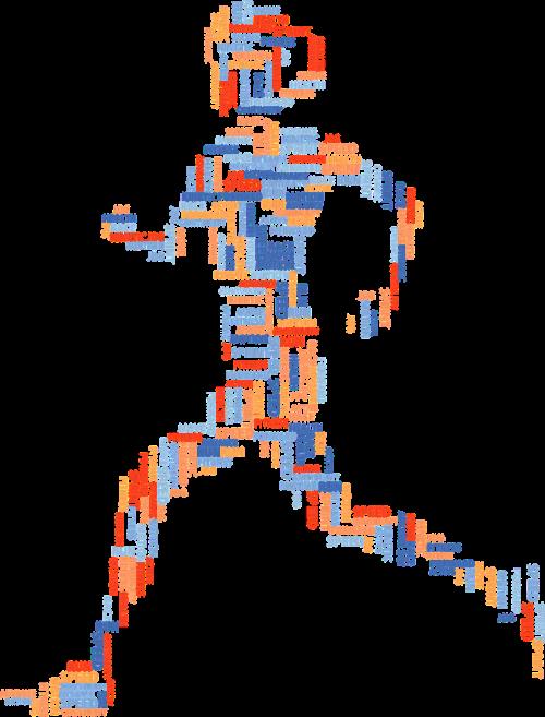 sportininkas,Atletiškas,bėgimas,bėgiojimas,pratimas,juda,judėti,moteris,Moteris,mergaitė,žmogus,asmuo,žmonės,tipografija,tipo,tekstas,žodžiai,žodis debesis,tag cloud,spalvinga,prizminis,chromatinis,vaivorykštė,svg,nemokama vektorinė grafika
