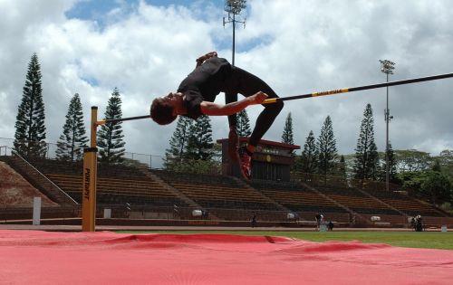 athlete high jump crossbar