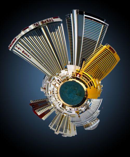 Atlantic City Skyline Mini Planet