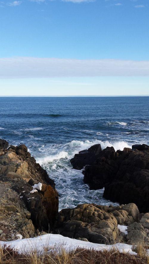 atlantic ocean rocks cliffs