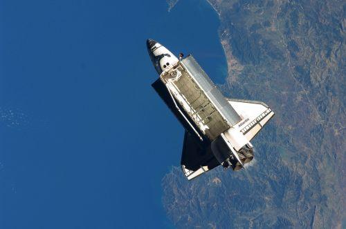atlantis space shuttle mediterranean sea