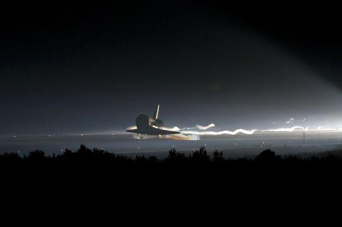atlantis space shuttle landing