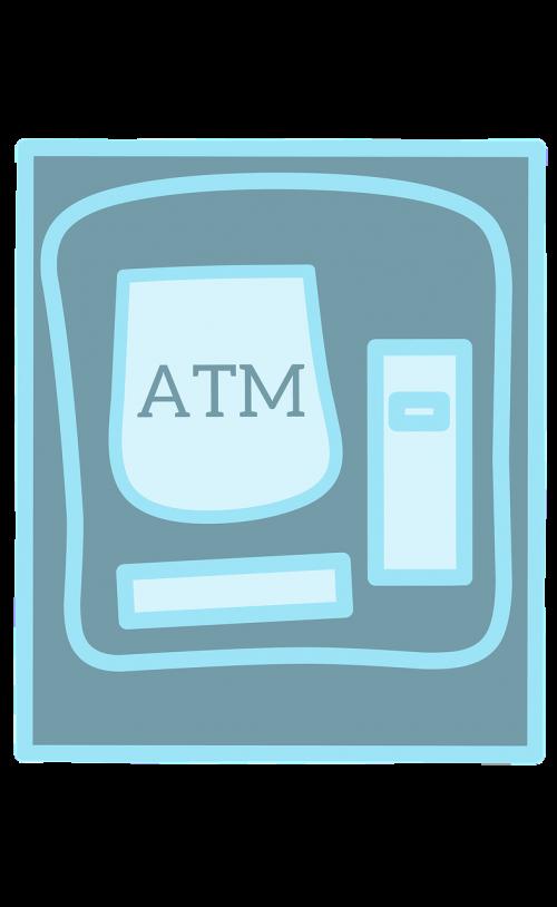 atm machine money