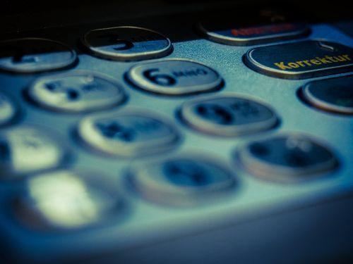 atm keypad number