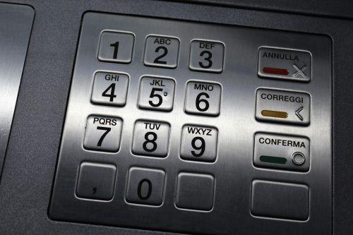 atm keypad keyboard numbers