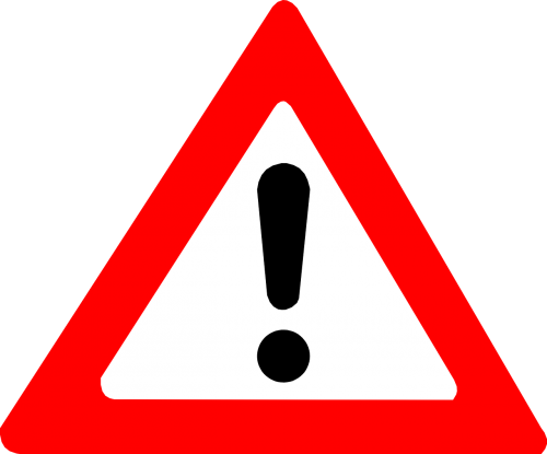 attention warning exclamation mark