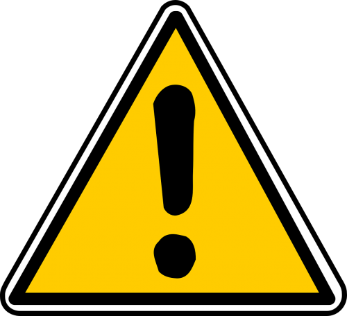 attention sign traffic