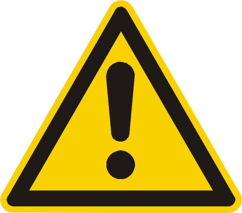 attention warning yellow
