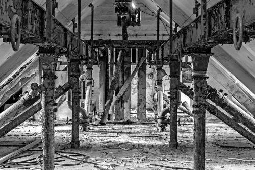 attic old truss