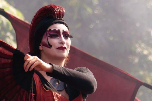 attitude red woman