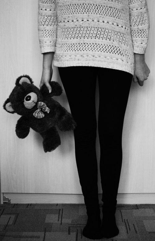attitude girl black and white