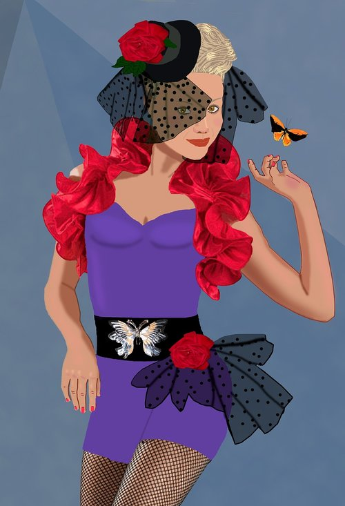 attractive woman  dance costume  tap dancer