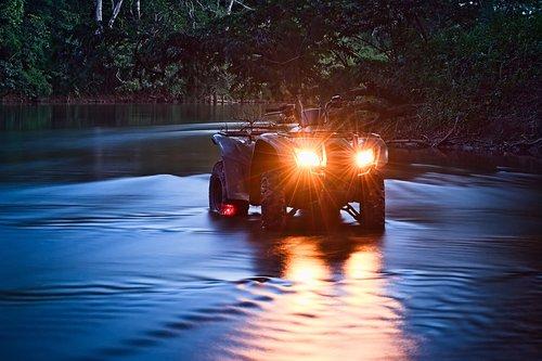 atv  river  off road