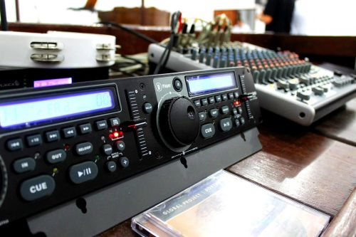 audio mixing board music studio
