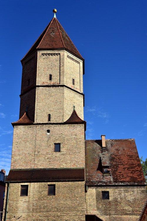 augsburg  jakobertor  tower