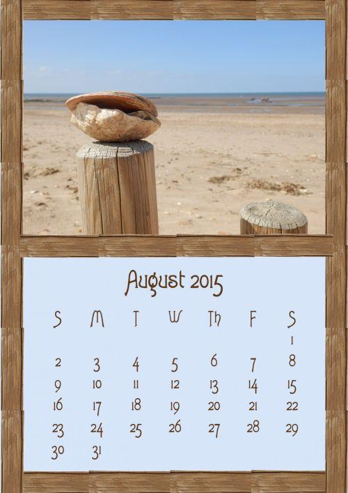 August 2015 Calendar Photo