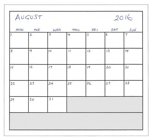 August 2016 Planner