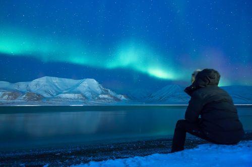 aurora aurora borealis snow