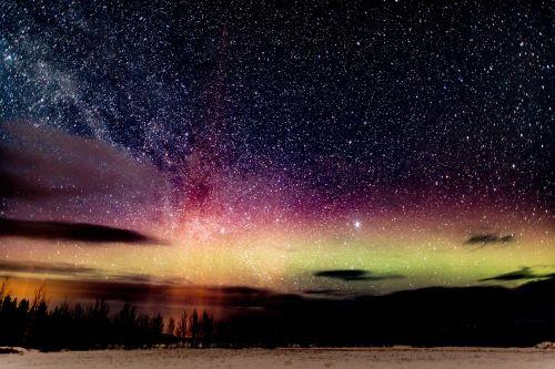 aurora borealis night