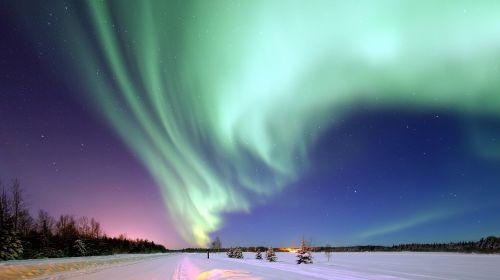 aurora borealis alaska space