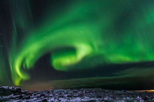 aurora borealis iceland northern