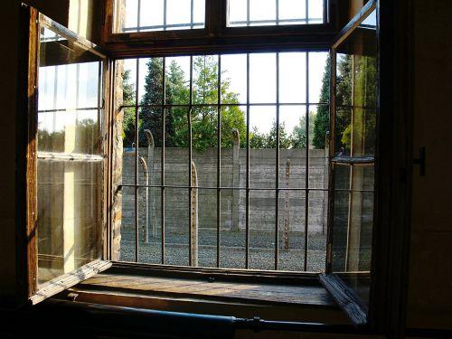 auschvitz - birkenau concentration camp window