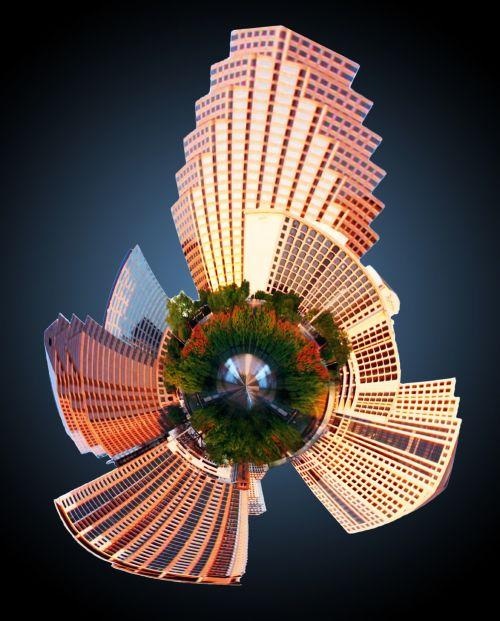 Austin Skyline Mini Planet