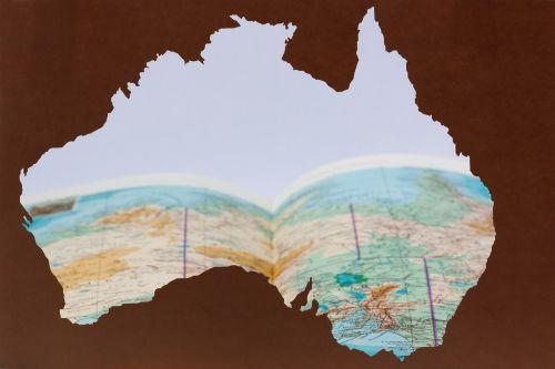 australia silhouette laser cut