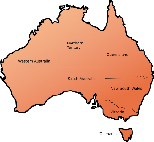 australia map teritories